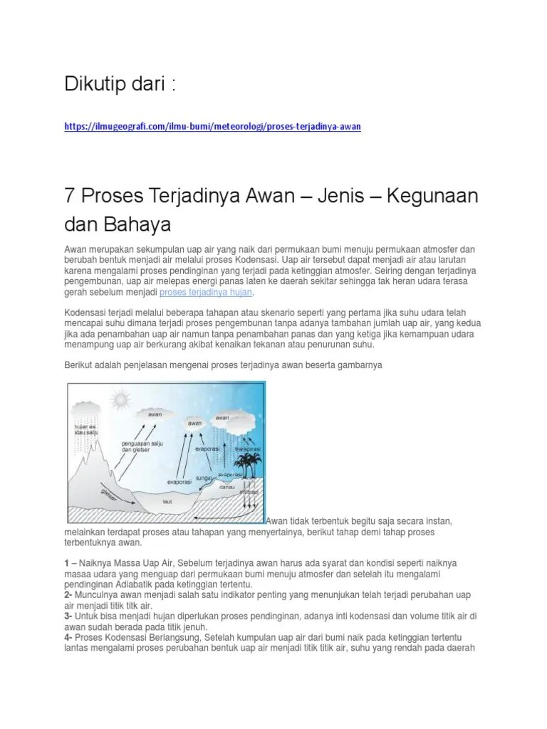 Proses Pengembunan : proses, pengembunan, Proses, TerjadinyaPembentukan, Awan.docx