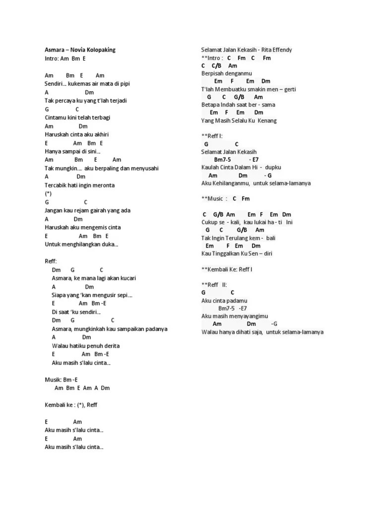 Chord Lagu Asmara Novia Kolopaking : chord, asmara, novia, kolopaking, Gitar