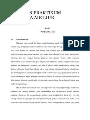 Laporan Praktikum Enzim Amilase Pada Air Liur : laporan, praktikum, enzim, amilase, 360829918-Laporan-Praktikum-Biokimia-Air-Liur.docx