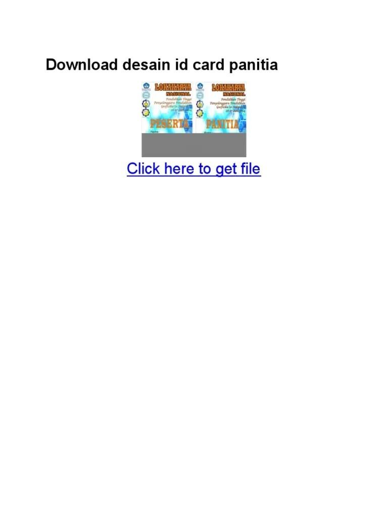 Download Id Card Panitia Word : download, panitia, Download, Desain, Panitia.pdf