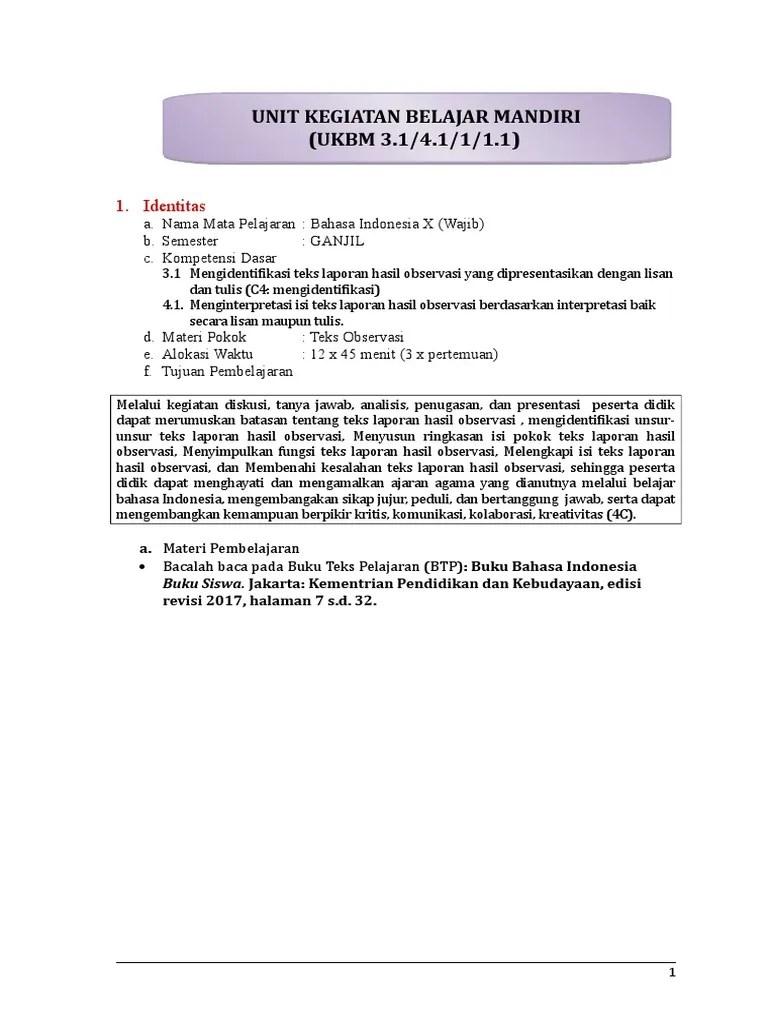 Merevisi Isi Teks Laporan Hasil Observasi : merevisi, laporan, hasil, observasi, 3-1_UKBM_10Bind_SKA_2018