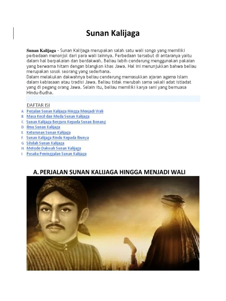 Silsilah Keturunan Sunan Bonang : silsilah, keturunan, sunan, bonang, Sunan, Kalijaga, -Rafida, Izzah, Setiaji-X, 3.docx