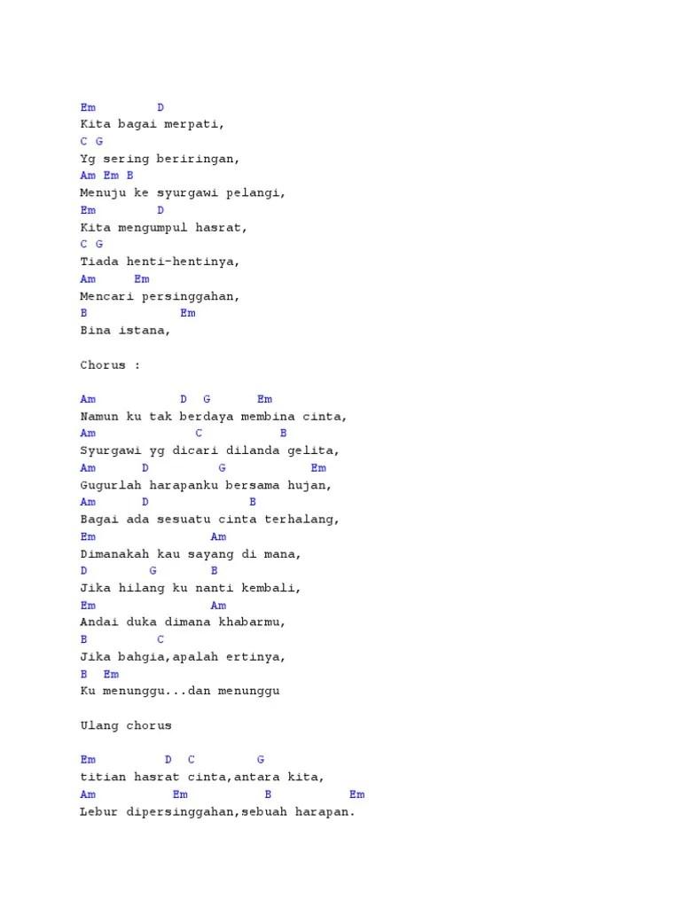 Chord Merpati Band Setia Selamanya Denganku : chord, merpati, setia, selamanya, denganku, Kunci, Gitar, Merpati, Setia, Selamanya, Denganku