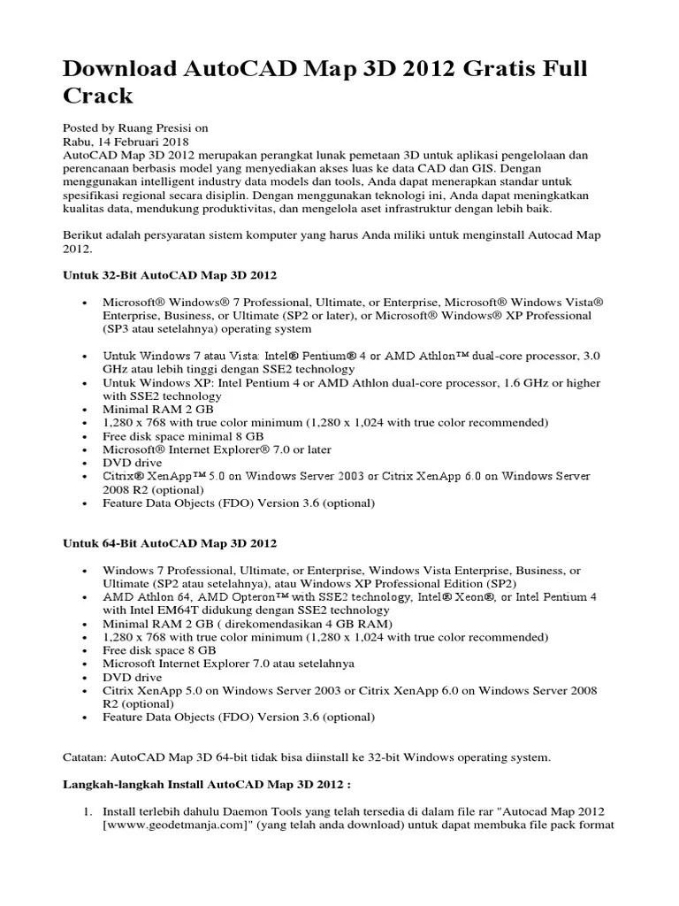 Download Autocad Map 3d 2012 Full Crack : download, autocad, crack, Instal, Autocad