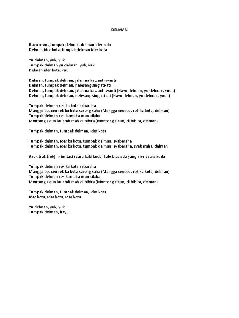 Lirik Lagu Delman : lirik, delman, LIRIK), DELMAN