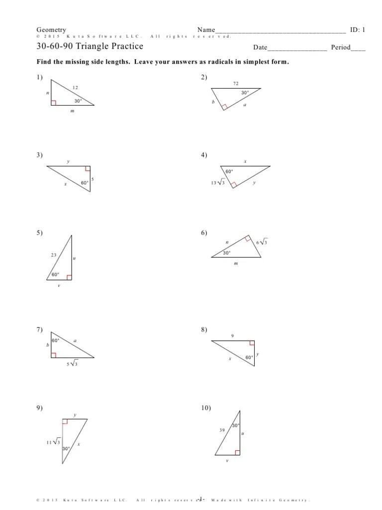 30 60 90 Triangle Worksheet Answer Key : triangle, worksheet, answer, 30-60-90-Triangle-Practice-1w3mynu, Euclidean, Geometry, Convex