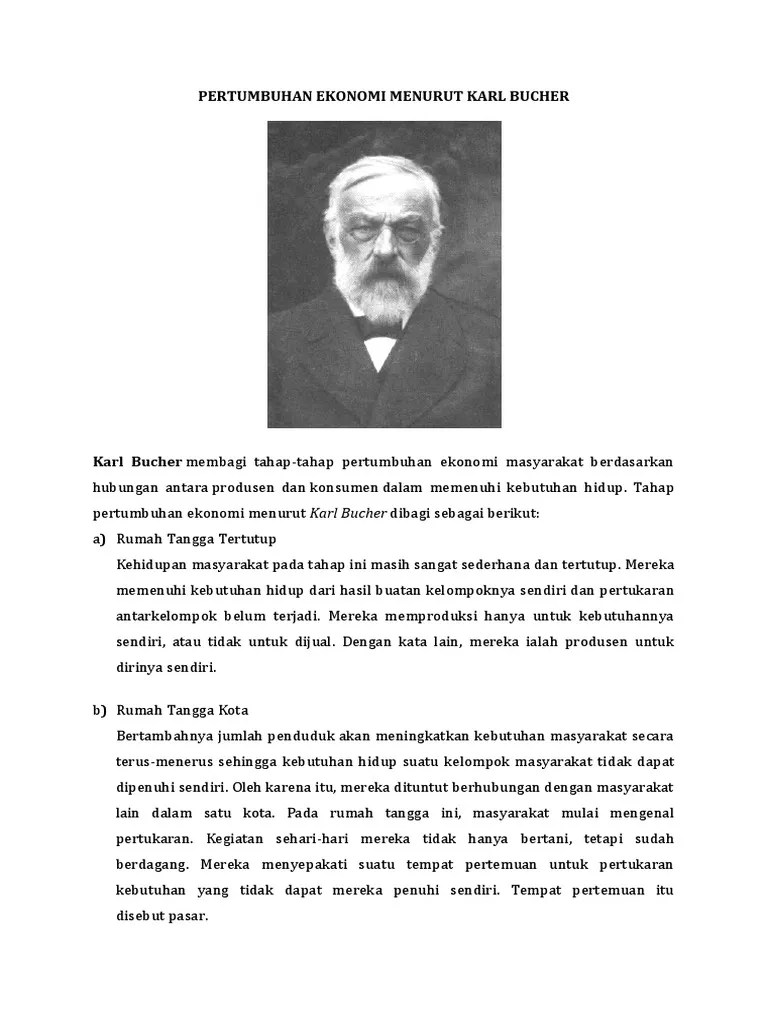 Pertumbuhan Ekonomi Menurut Karl Bucher : pertumbuhan, ekonomi, menurut, bucher, Teori, Pertumbuhan, Ekonomi, Bucher