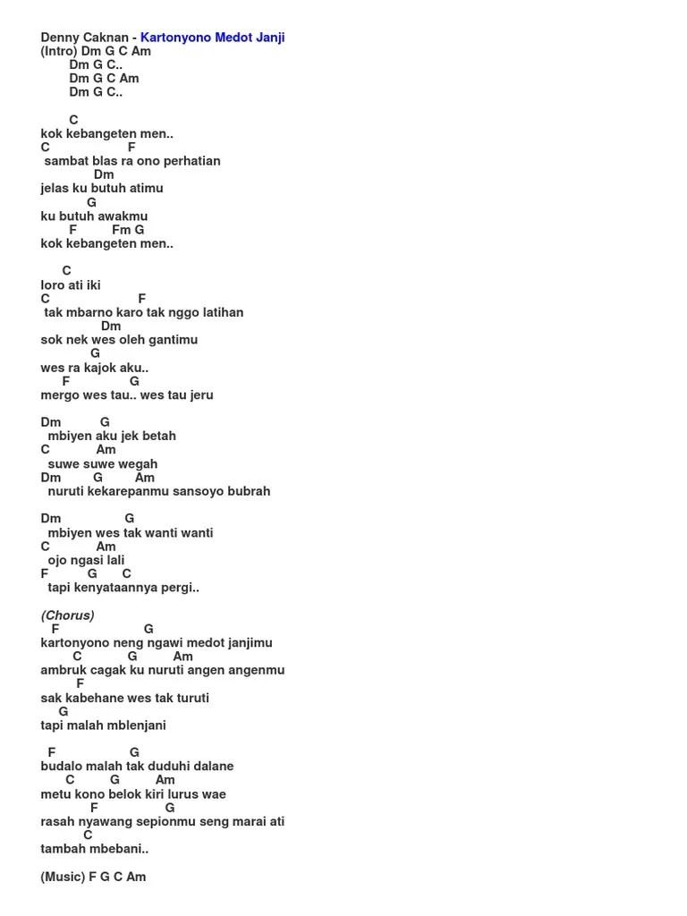 Chord Lagu Kartonyono Dari G : chord, kartonyono, Lirik, KArtonyono, Medot, Janji, Chord