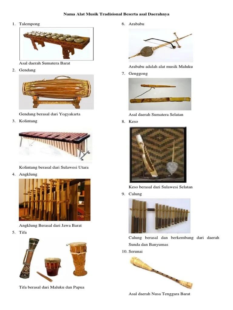 Alat Musik Talempong Berasal Dari : musik, talempong, berasal, Musik, Tradisional