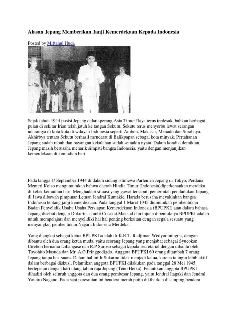 Latar Belakang Jepang Ingin Menguasai Indonesia Adalah : latar, belakang, jepang, ingin, menguasai, indonesia, adalah, Alasan, Jepang, Memberikan, Janji, Kemerdekaan, Kepada, Indonesia