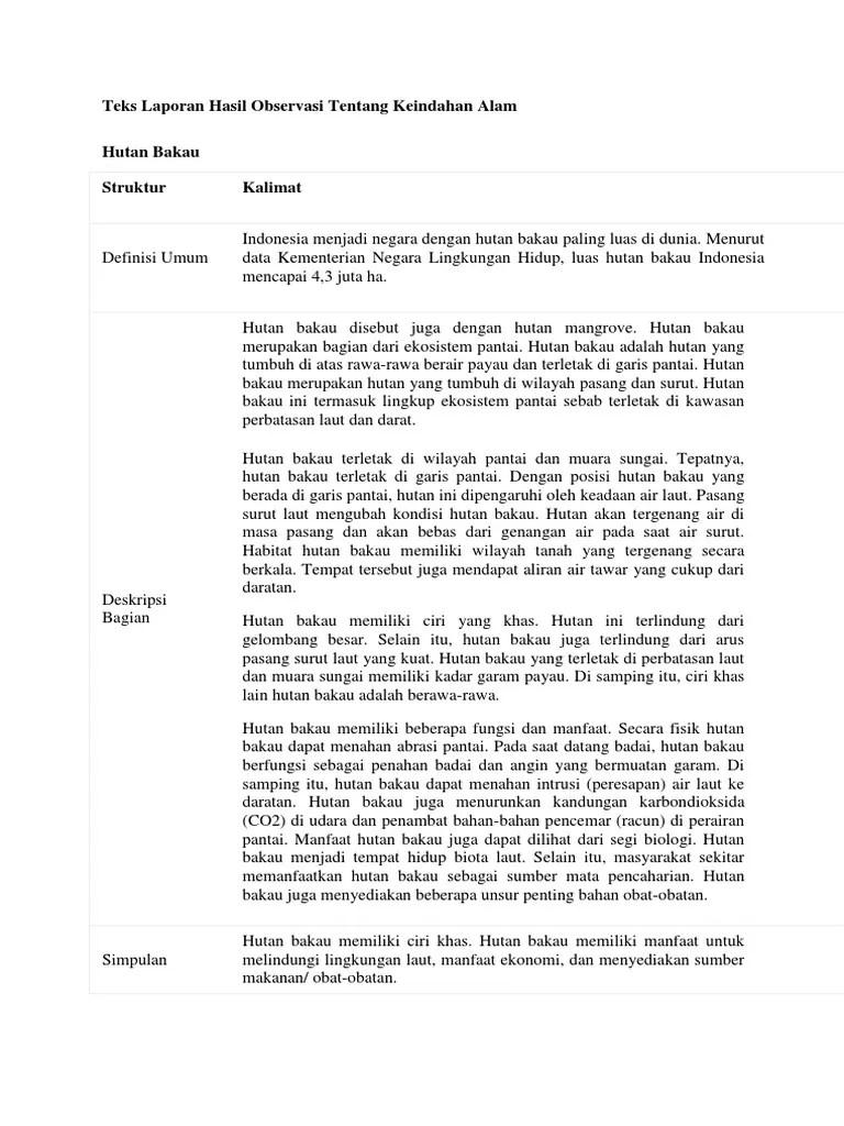 Contoh Teks Laporan Hasil Observasi Tentang Keindahan Alam : contoh, laporan, hasil, observasi, tentang, keindahan, Laporan, Hasil, Observasi, Tentang, Keindahan