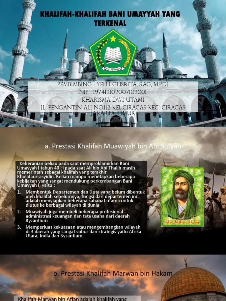Prestasi Khalifah Muawiyah bin Abi Sufyan Prestasi