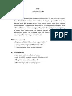 Teknik Dasar Baseball dan Penjelasannya - RuangBimbel.co.id