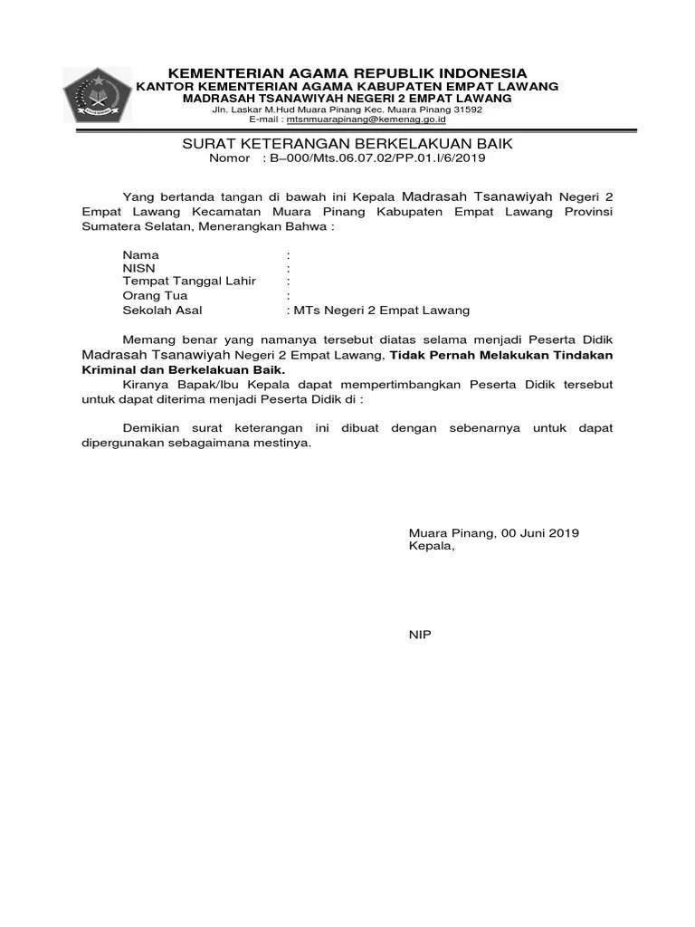 Surat Keterangan Kelakuan Baik : surat, keterangan, kelakuan, SURAT, KETERANGAN, KELAKUAN, 2019.docx