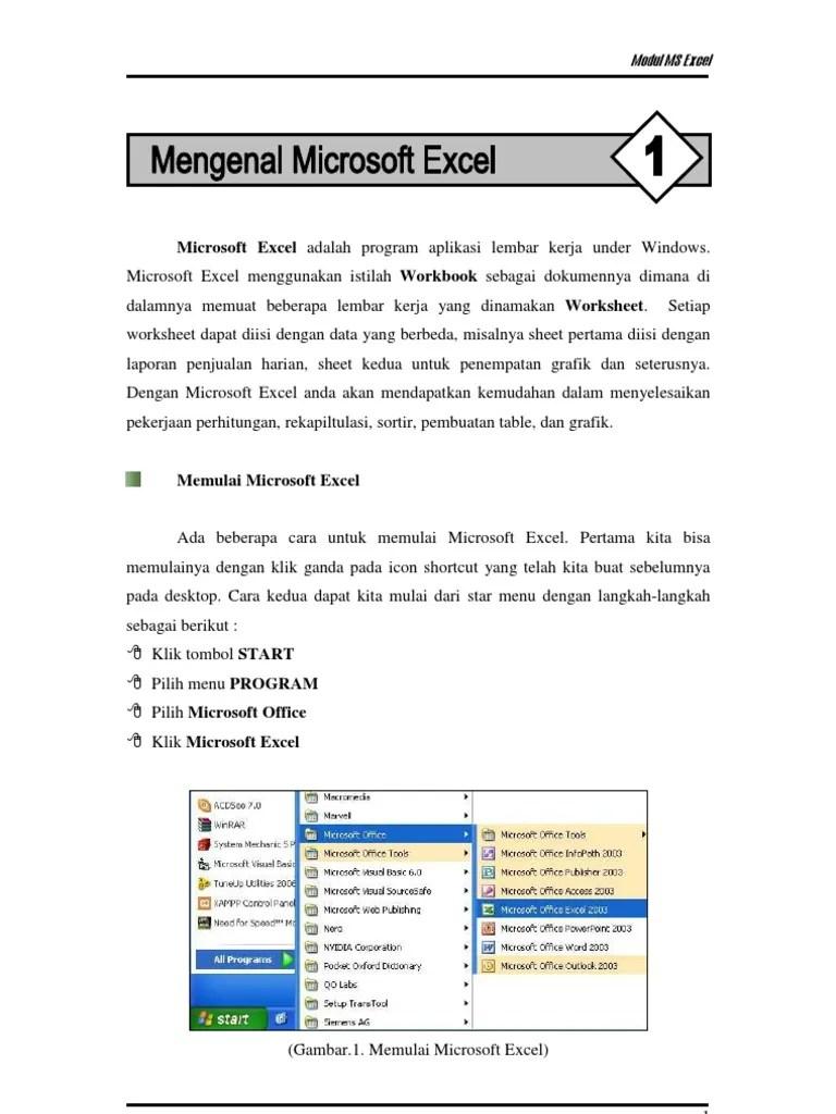 Menu Yang Ada Di Microsoft Excel : microsoft, excel, MICROSOFT, EXCEL, MODUL