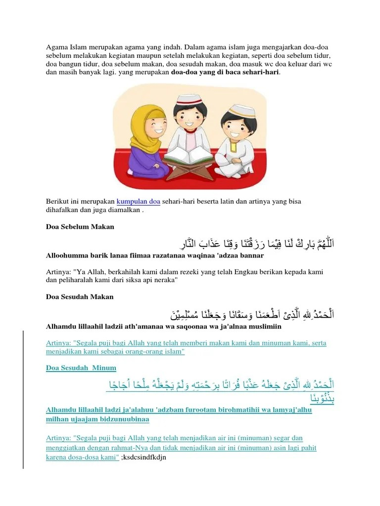 Doa Sebelum Dan Sesudah Makan (Arab, Latin, Artinya) Dan Adab