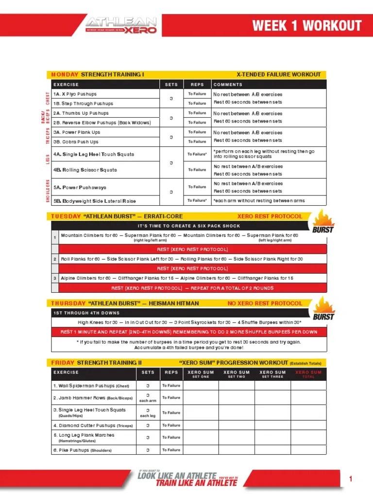 Weight Destroyer Program Free Pdf : weight, destroyer, program, Workouts, Challenge, Athlean, Xero.pdf