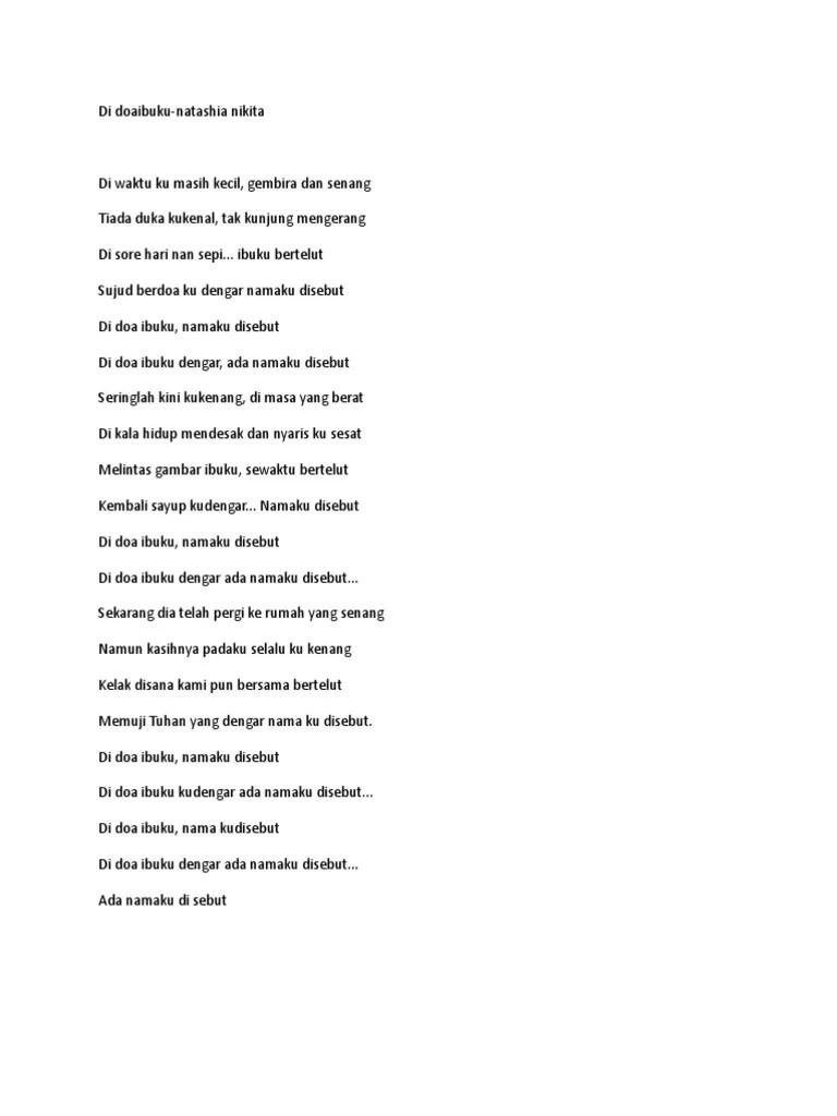 Lirik Lagu Di Doa Ibuku Namaku Disebut Nikita : lirik, ibuku, namaku, disebut, nikita, Doaibuku-nikita.doc