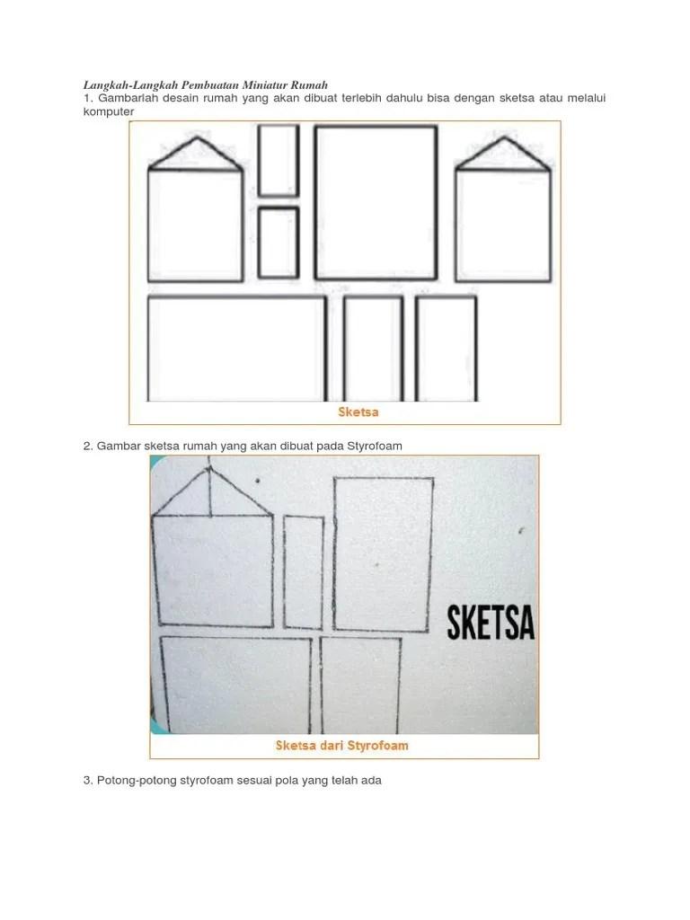 Rumah Dari Styrofoam : rumah, styrofoam, Sketsa, Miniatur
