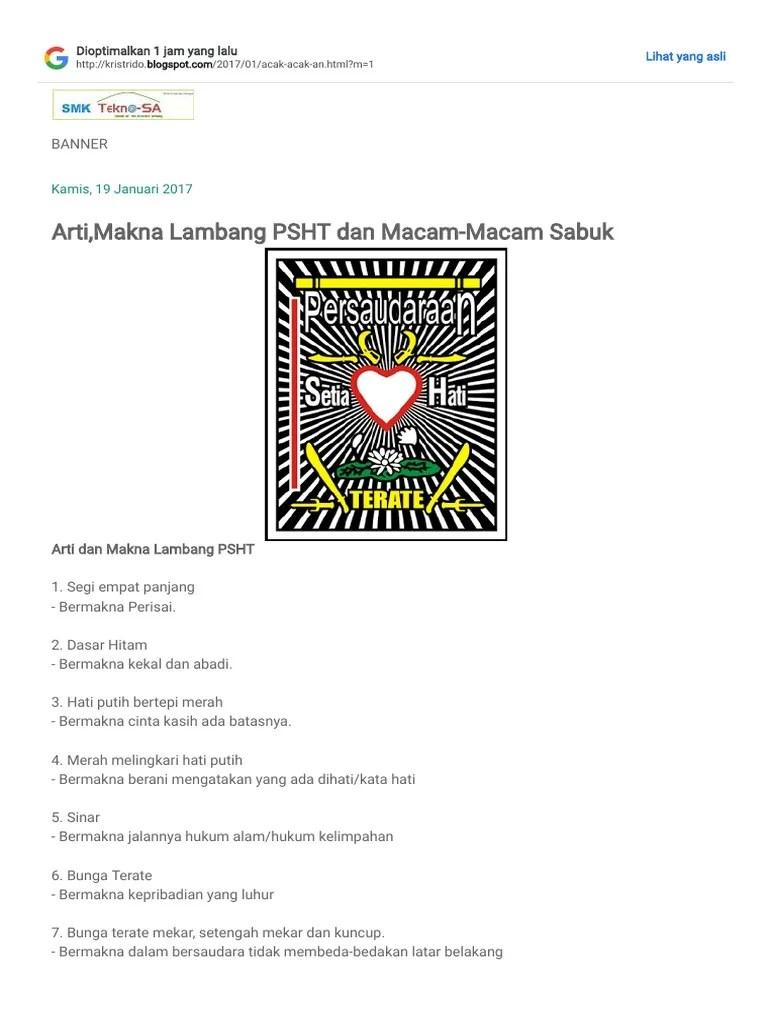 Arti Dari Lambang Psht : lambang, PASHTER_, Arti,Makna, Lambang, Macam-Macam, Sabuk.pdf