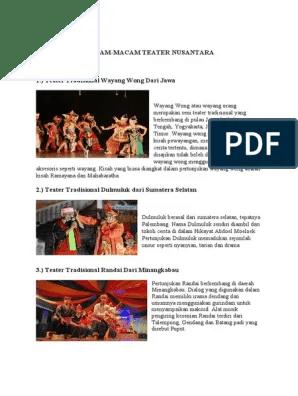 Macam Macam Teater Nusantara : macam, teater, nusantara, TUGAS, BUDAYA