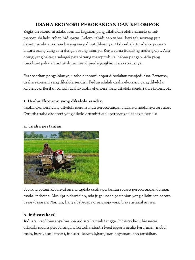 Gambar Usaha Ekonomi : gambar, usaha, ekonomi, USAHA, EKONOMI, PERORANGAN, KELOMPOK