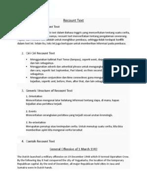 Contoh Generic Structure : contoh, generic, structure, Recount, Politics, Indonesia