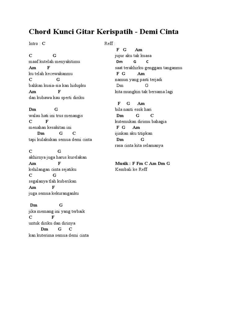 Kunci Gitar Hari Esok : kunci, gitar, Chord, Kunci, Gitar, Kerispatih.docx