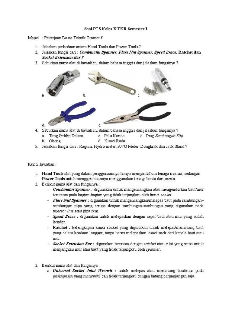 Alat Alat Power Tools Beserta Fungsinya : power, tools, beserta, fungsinya, Kelas, Semester