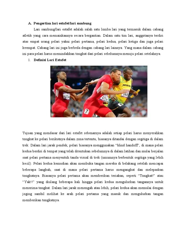 Lari Estafet: Mengenal Pengertian, Sejarah, Peraturan, dan