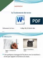 Traitement De Texte Pdf : traitement, texte, Unité, II-S2-1, Traitement, Texte.pptx, Microsoft, Texte