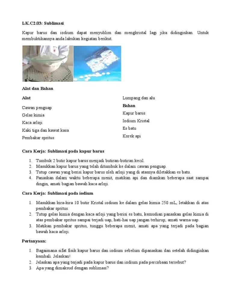 Apa Yang Dimaksud Mengkristal : dimaksud, mengkristal, LK.C2.03, Sublimasi.docx