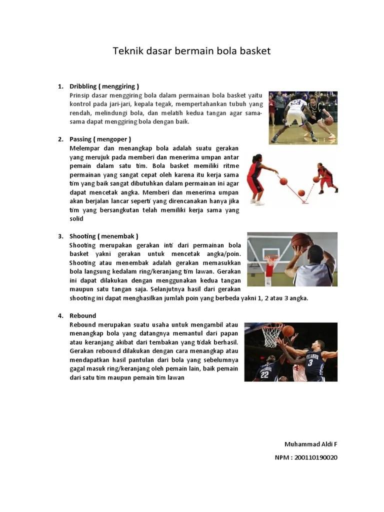 Teknik Menggiring Bola Rendah Pada Permainan Bola Basket Dilakukan Untuk : teknik, menggiring, rendah, permainan, basket, dilakukan, untuk, Teknik, Dasar, Bermain, Basket-aldi.docx