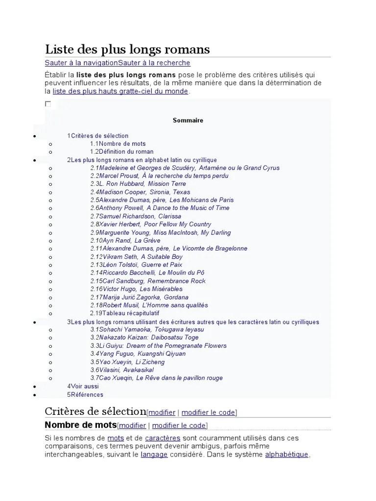 Nombre De Mots Dans Un Roman : nombre, roman, Liste, Roman.docx, Romans, Divertissement, (Général)