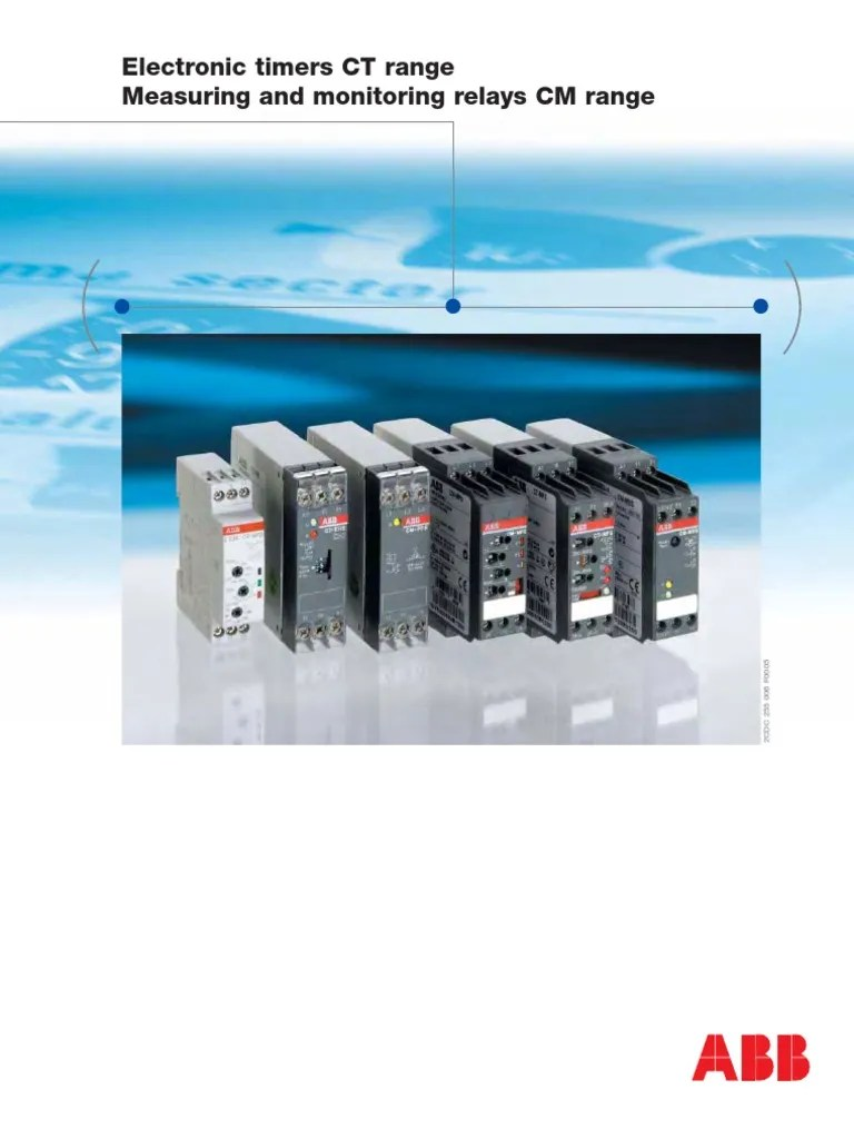 ABB Timers Monitoring Relays | Alternating Current | Relay