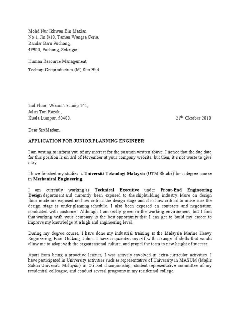 Cover Letter Ikhwan