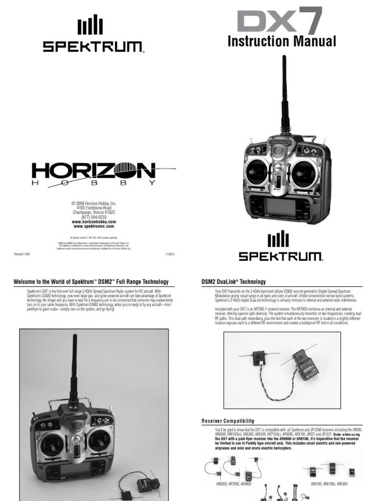 medium resolution of spektrum dx7 rc plane wiring diagram