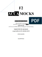 ACCA F2 FMA Solved Past Papers 1.2 Old Professional_Scheme