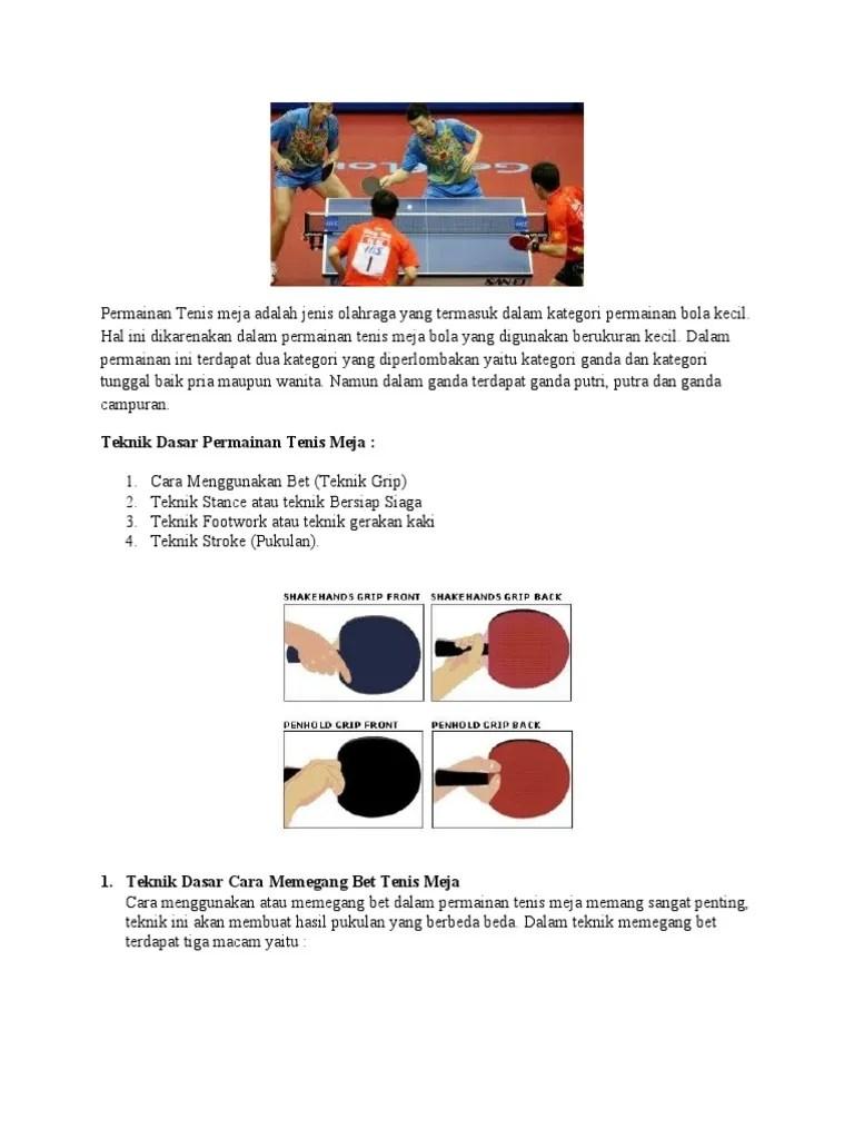Cara Memegang Bet Dalam Tenis Meja : memegang, dalam, tenis, TENIS