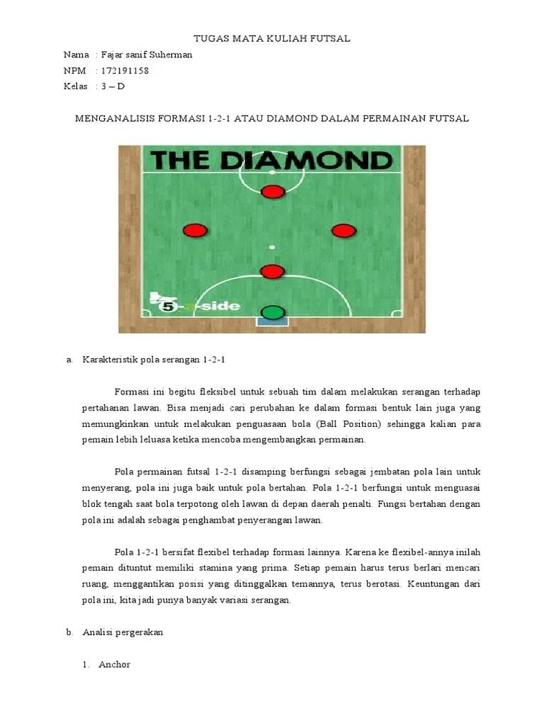 pemain futsal | Formasi Futsal 3-1