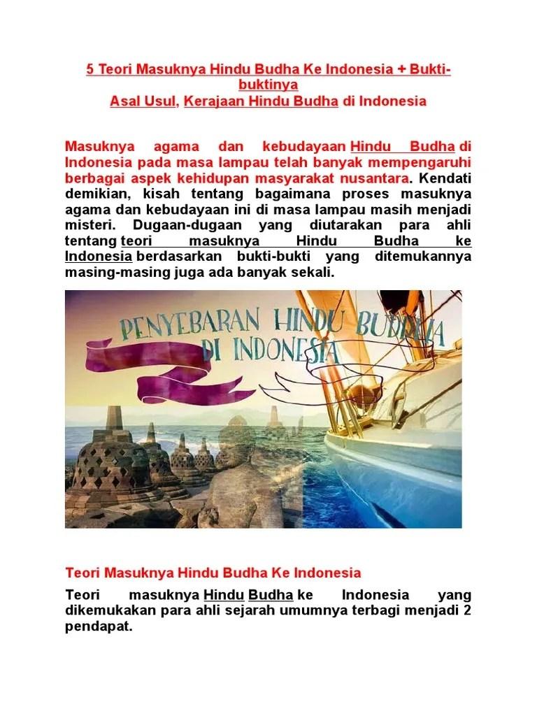 5 Teori Masuknya Hindu Budha Ke Indonesia : teori, masuknya, hindu, budha, indonesia, Teori, Masuknya, Hindu, Budha, Indonesia