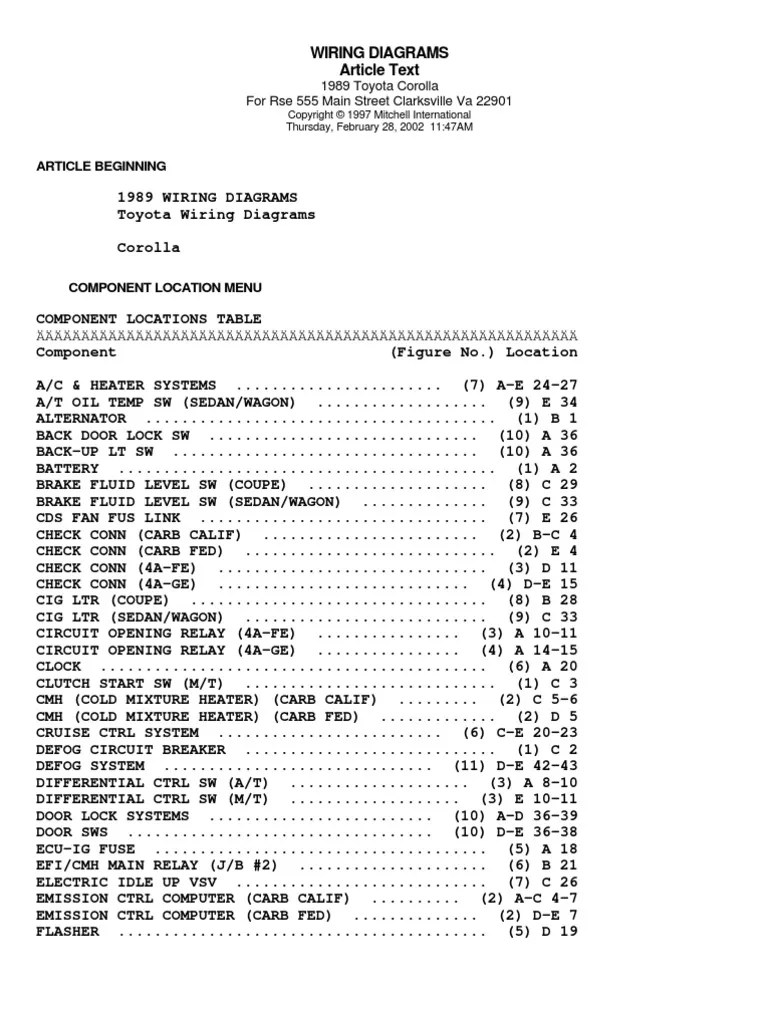 medium resolution of 1989 toyotum van wiring diagram