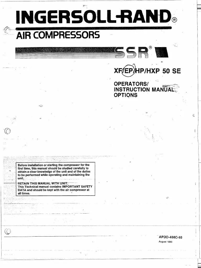 medium resolution of ingersoll rand ssr instruction manual xf ep hp hpx 50 se taylor wiring diagram ingersoll rand ssr wiring diagram
