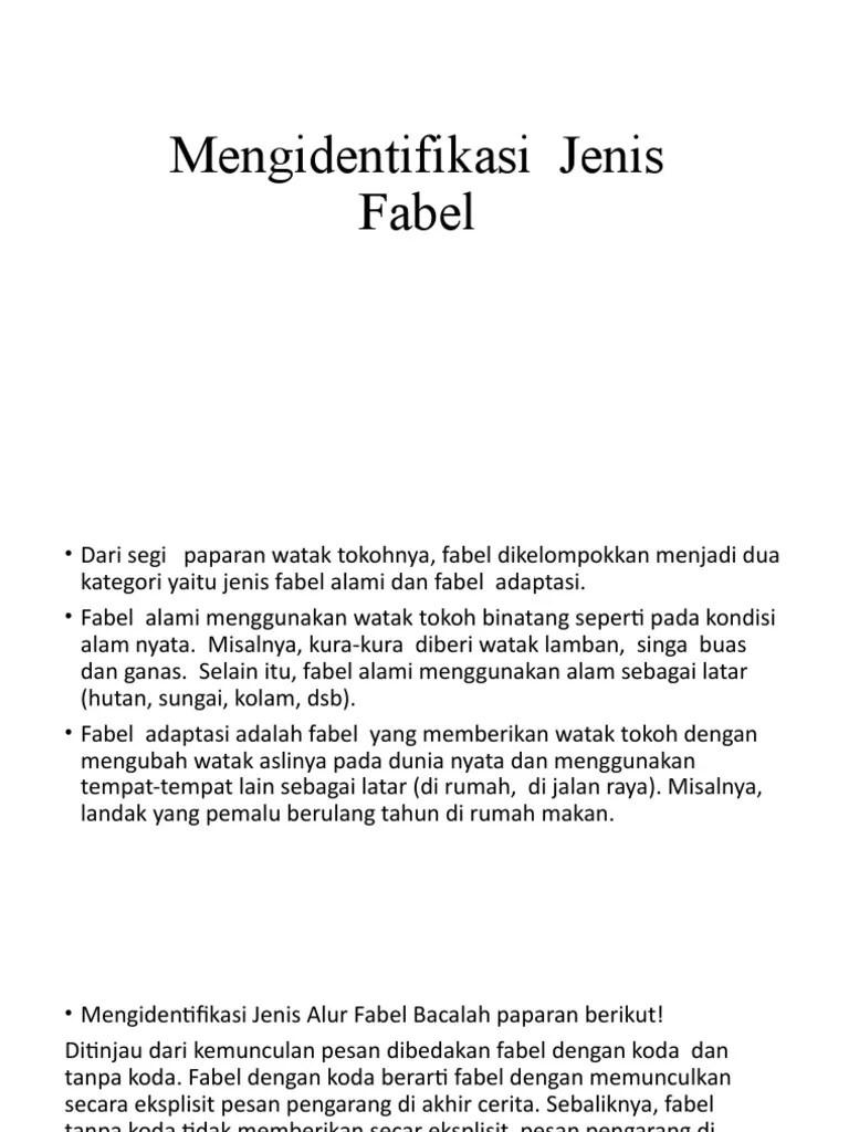 Jenis Jenis Fabel : jenis, fabel, Materi, Fabel, 2.pptx