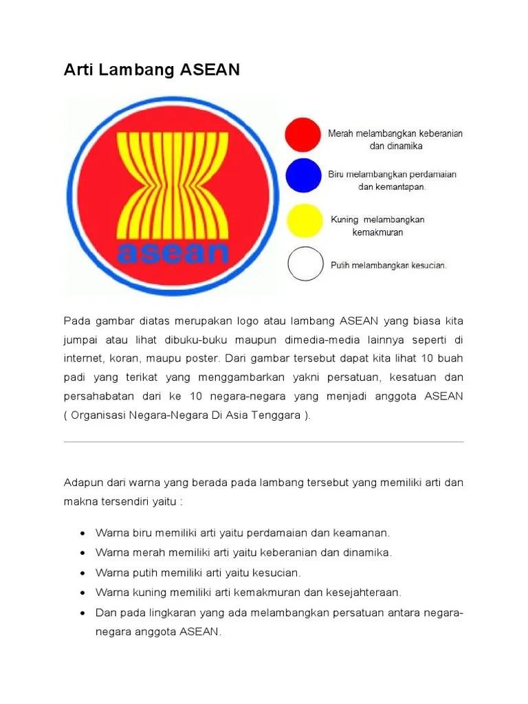 Gambar Logo Asean : gambar, asean, Lambang, ASEAN