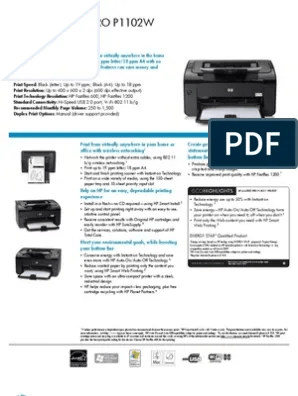 Hp Laserjet P1102w : laserjet, p1102w, Specifications, Laserjet, P1102W-1, Computing, Microsoft, Windows