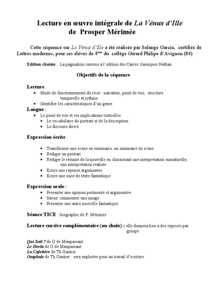 Points De Vue Narratifs 4ème : points, narratifs, 4ème, Merimee, Écriture, Narration