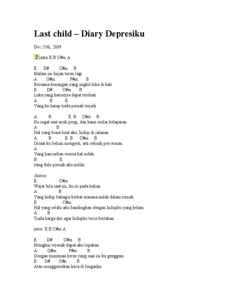 Chord Gitar Last Child Penyesalan Yang Indah : chord, gitar, child, penyesalan, indah, Chord, Gitar, Child