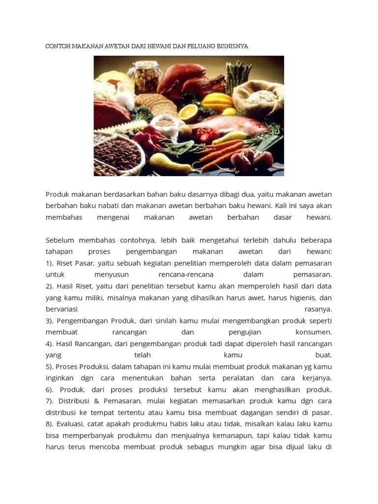 Makanan Awetan Hewani : makanan, awetan, hewani, Contoh, Makanan, Awetan, Hewani, Peluang, Bisnisnya
