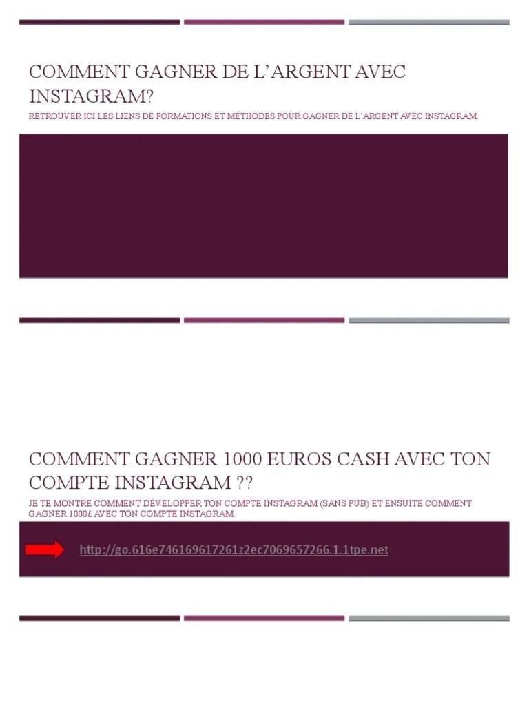 Gagner De L'argent Avec Instagram : gagner, l'argent, instagram, Comment, Gagner, L'argent, Instagram, Technologie, Ingénierie, Informatique
